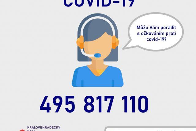 Královéhradecký kraj spouští vlastní infolinku k očkování proti covidu-19