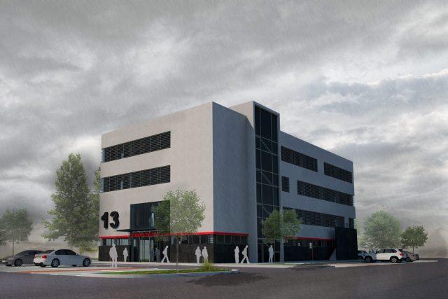 Vizualizace nové budovy Transfuzního oddělení Fakultní nemocnice Hradec Králové