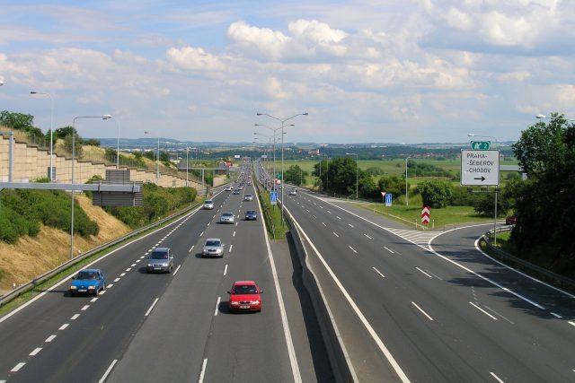 Dálnice D1 u Prahy (ilustrační foto)