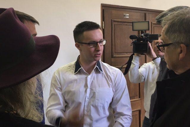 Lukáš Nečesaný u soudu 27. března 2019